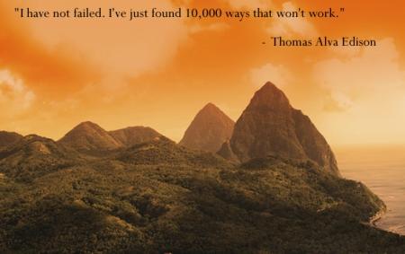 Failure - Thomas Alva Edison